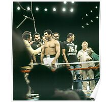 Ali being interviewed at weigh-in 2 Poster