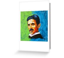 The Great Inventor - A Nikola Tesla Tribute Greeting Card