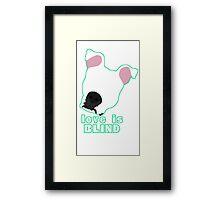 Love is Blind white Framed Print