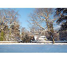 Winter Snow in Peebles Photographic Print