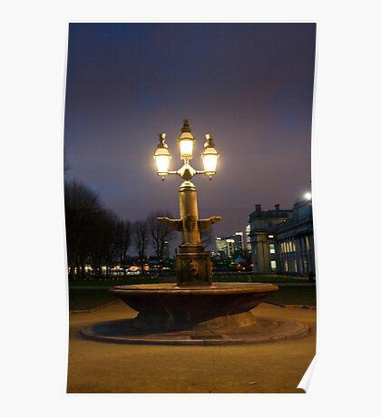 Greenwich fountain Poster