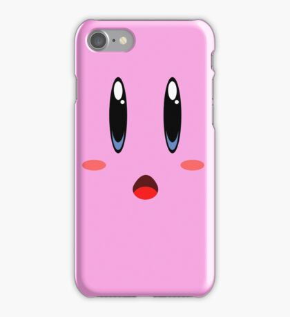kirby face iPhone Case/Skin