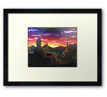 Indonesian Sunset Framed Print