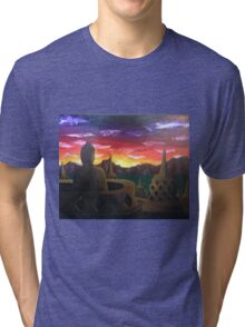 Indonesian Sunset Tri-blend T-Shirt