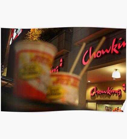 chopsticks & noodles Poster