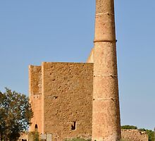 Moonta Mines - Hughes Wheal - Pumphouse and Chimney by chijude