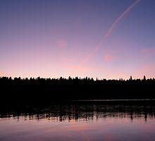 Sunset on Lake Francis- Pittsburg, NH by mmcc0713