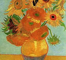 Vase with Twelve Sunflowers, Vincent van Gogh by naturematters