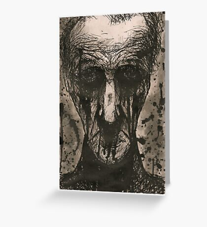 Ink Face Greeting Card