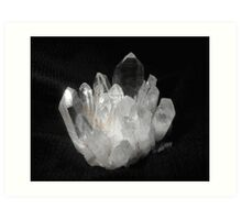 Quartz Crystals Art Print