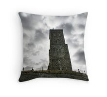 Moody Skies Over Reculver Throw Pillow
