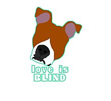 Love is Blind brown Photographic Print