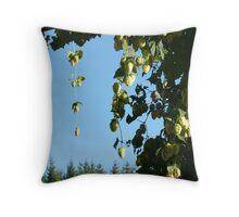 hop vines on an arbor Throw Pillow