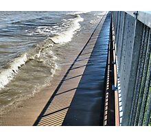 Steel and Concrete  Retaining Wall Photographic Print