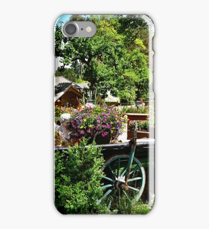 Country Wagon with Flowers iPhone Case/Skin