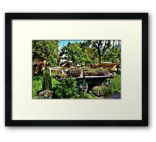 Country Wagon with Flowers Framed Print