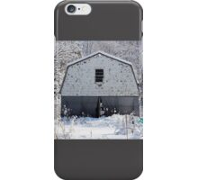 Old Barn after the Snow iPhone Case/Skin