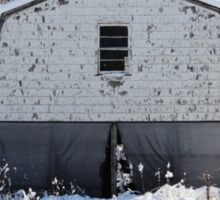 Old Barn after the Snow Sticker
