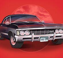 1967 Chevorlet Impala - Supernatural TV SHow by siimonfairhurst