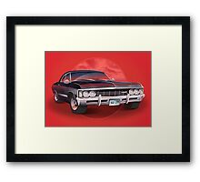 1967 Chevorlet Impala - Supernatural TV SHow Framed Print