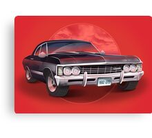 1967 Chevorlet Impala - Supernatural TV SHow Canvas Print