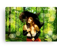 Sorceress - Forest Magic Canvas Print