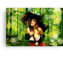 Sorceress - Forest Magic Canvas Print