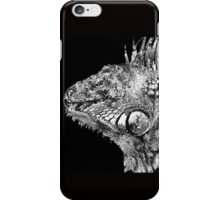 Black And White Iguana Art - One Cool Dude 2 - Sharon Cummings iPhone Case/Skin
