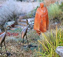 Garden Sculptures on Canyon Road by Laurel Talabere