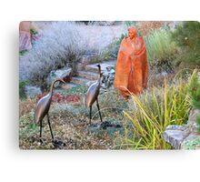 Garden Sculptures on Canyon Road Canvas Print
