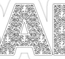 Bali #000 White Sticker