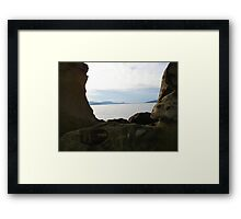 Water through the rocks Framed Print