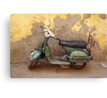 Moped against the wall Canvas Print