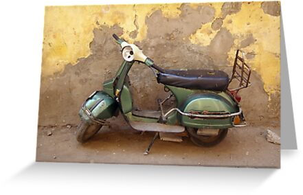 Moped against the wall by andesign101