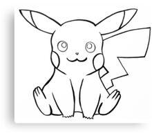 Pokemon - Pikachu Sketch Canvas Print