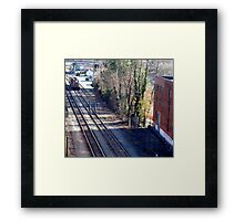 The Nine O' Five Is Coming! -  (SMALLTOWN USA series)   ^ Framed Print