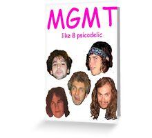 'like 8 psicodelic' MGMT Greeting Card