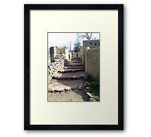 Alley in Jewish village Framed Print