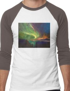 Aurora Borealis Men's Baseball ¾ T-Shirt