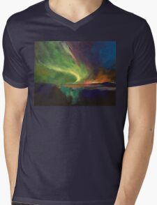 Aurora Borealis Mens V-Neck T-Shirt