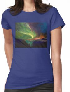 Aurora Borealis Womens Fitted T-Shirt