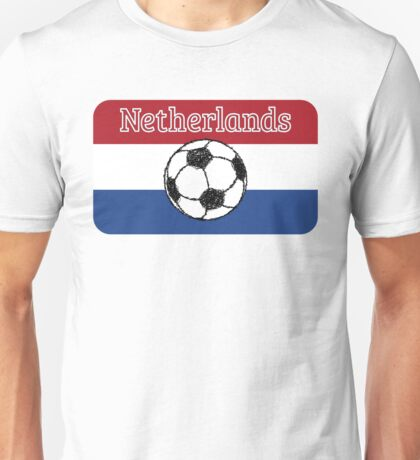 The flag of the Netherlands Football Unisex T-Shirt