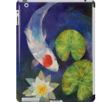 Tancho Koi and Water Lily iPad Case/Skin