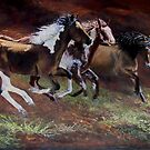 &quot;3 Horses&quot; by Janet Rawlings
