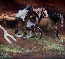 """3 Horses"" by Janet Rawlings"