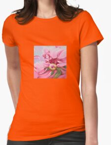"""""""The Peony"""" Womens Fitted T-Shirt"""