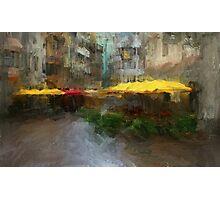 Yellow Umbrellas Photographic Print