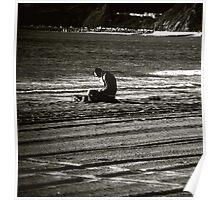 Reading Santa Monica  Poster