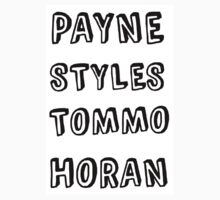 One Direction Last Name Design by Alanah Carr