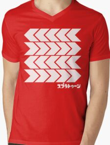 Splatoon Takoroka Red Vector Tee Mens V-Neck T-Shirt